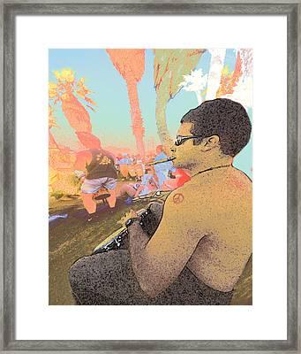 Bongo Boy Framed Print by Alice Ramirez