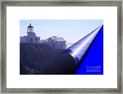 Bonita Lighthouse Landscape Framed Print
