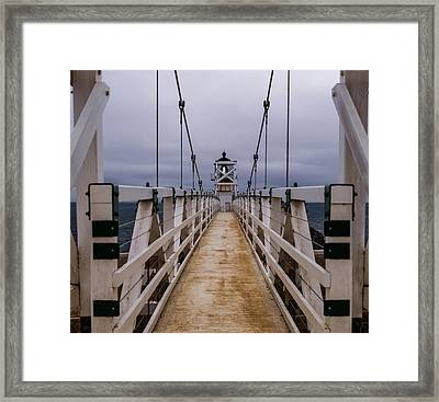 Bonita Point Lighthouse Framed Print by Mike Ronnebeck