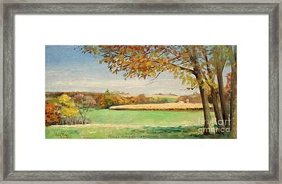 Bonjour Lands In Apple River Jo Daviess County Framed Print by Art By Tolpo Collection