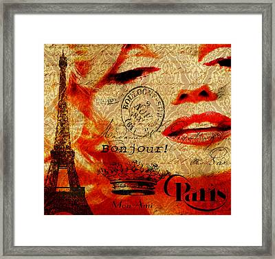Bonjour Marilyn Framed Print by Greg Sharpe