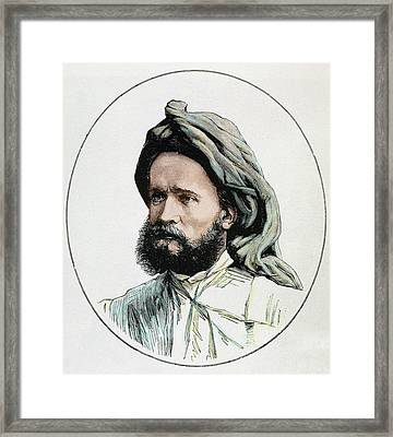 Bonnat (d1881) French Explorer Engraving Framed Print