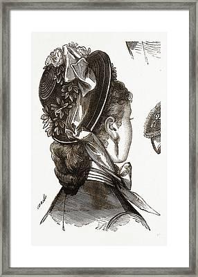 Bonnet, Fashion, Needlework Framed Print