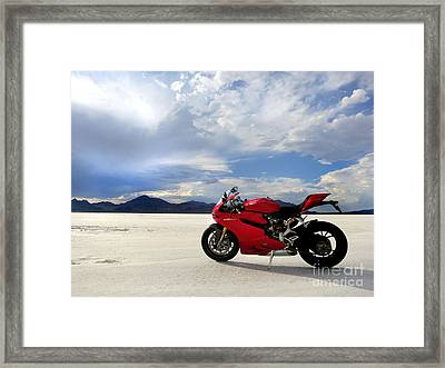 Bonneville Salt Flats 2 Framed Print by AntiHero Panigale