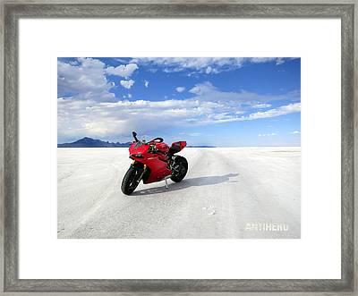 Bonneville Salt Flats 3 Framed Print by AntiHero Panigale
