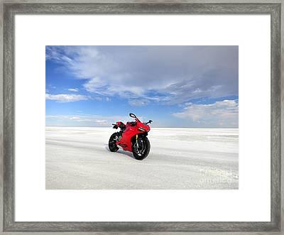 Bonneville Salt Flats Framed Print by AntiHero
