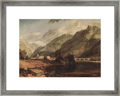 Bonneville Savoy With Mont Blanc 1803 Framed Print by J M W Turner