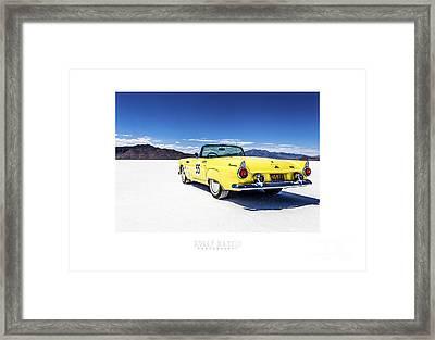 Bonneville T-bird Framed Print