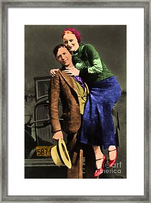 Bonnie And Clyde 20130515 Framed Print by Wingsdomain Art and Photography