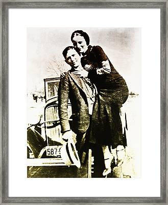 Bonnie And Clyde Framed Print by Bill Cannon