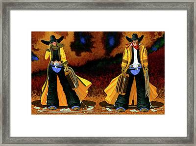 Bonnie And Clyde Framed Print by Lance Headlee
