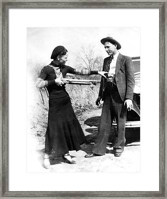 Bonnie And Clyde Framed Print by Retro Images Archive