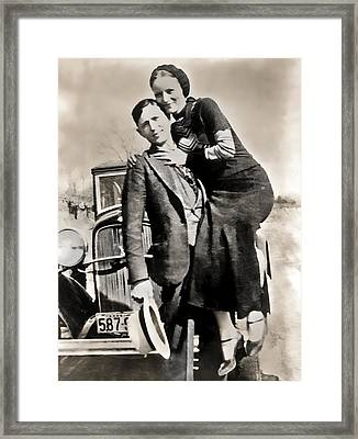 Bonnie And Clyde - Texas Framed Print