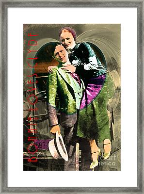 Bonnie Loves Clyde 20150523 With Text V2 Framed Print