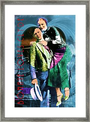 Bonnie Loves Clyde 20150523 With Text Framed Print by Wingsdomain Art and Photography