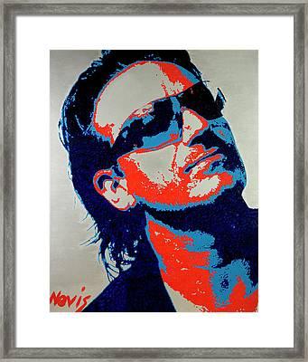 Bono Framed Print by Barry Novis