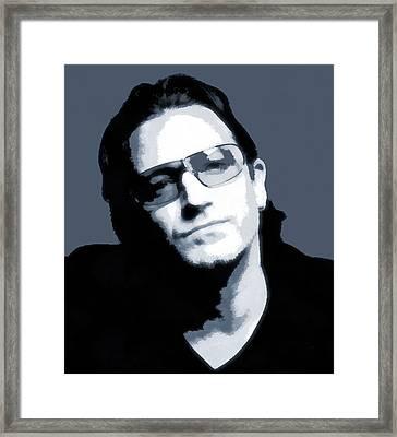 Bono Framed Print by Dan Sproul