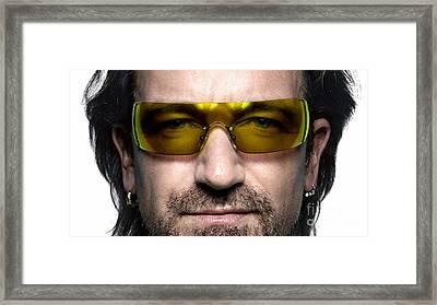Bono  Framed Print by Marvin Blaine