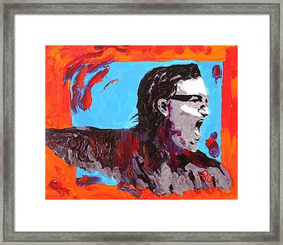 Bono Framed Print by Michael Greeley
