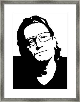 Bono Framed Print by Monofaces
