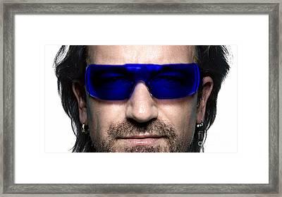 Bono Of U2 Framed Print