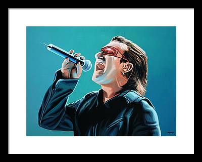 Bono Framed Prints