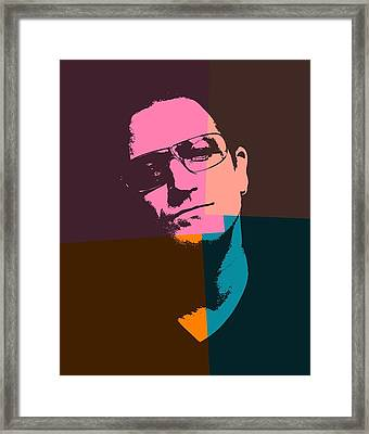 Bono Pop Art Framed Print