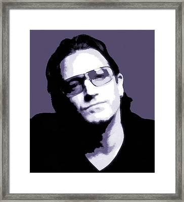 Bono Portrait Framed Print by Dan Sproul