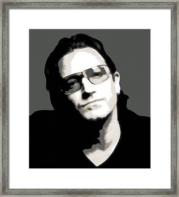Bono Poster Framed Print by Dan Sproul