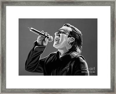 Bono U2 Framed Print by Meijering Manupix