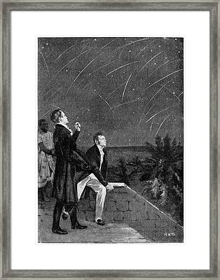 Bonpland And Humboldt Observing The Stars Framed Print by Cci Archives