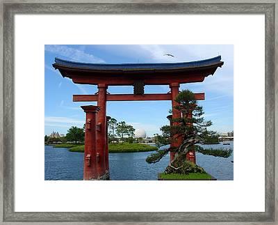 Framed Print featuring the photograph Bonsai Pavillion by David Nicholls