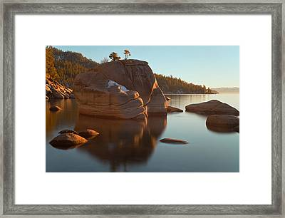 Bonsai Rock Framed Print by Jonathan Nguyen