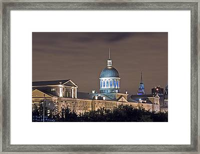 Bonsecours At Night Framed Print