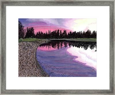 Bonsette's Sunset Framed Print