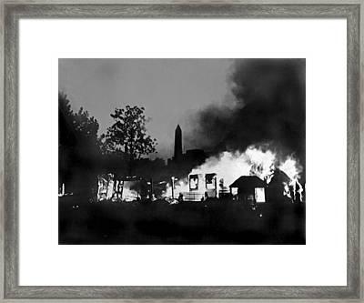 Bonus Army Camp Fires Framed Print