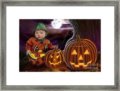 Boo Baby Pumpkins Framed Print by Bedros Awak