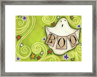 Boo Ghost Framed Print by Anne Tavoletti