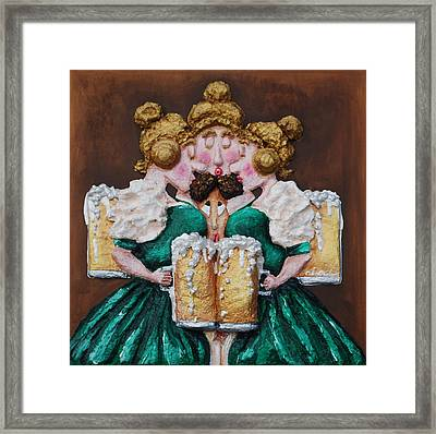 Boobies And Beer Framed Print