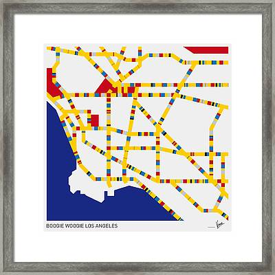Boogie Woogie Los Angeles Framed Print by Chungkong Art