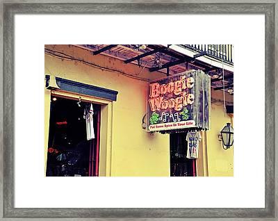 Boogie Woogie Neon Framed Print