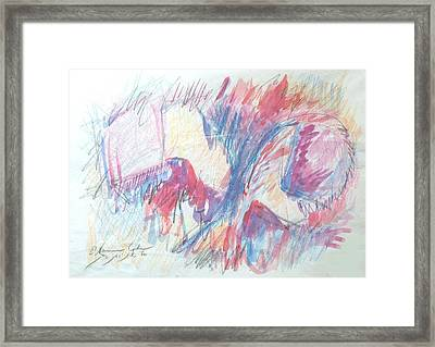 Book And Ball Framed Print by Esther Newman-Cohen