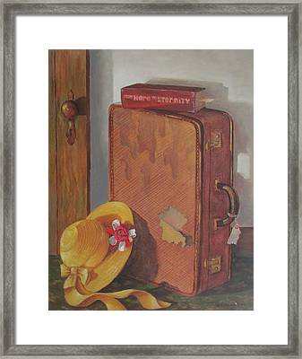 Framed Print featuring the painting Book Case by Tony Caviston