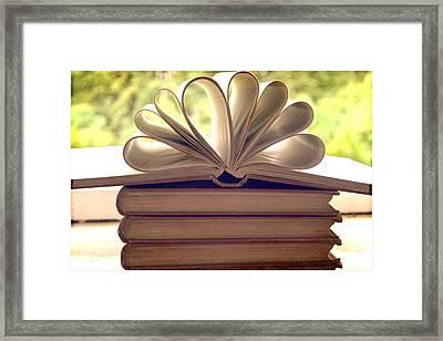 Book Flower Framed Print by Georgia Fowler