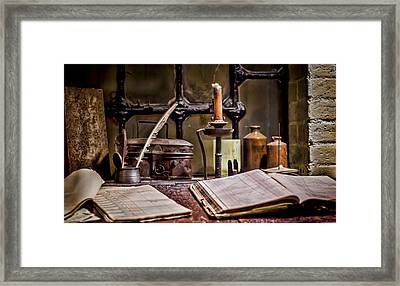 Book Keeper Framed Print