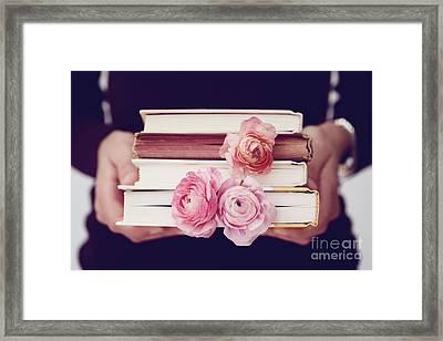 Book Love Framed Print by Kim Fearheiley