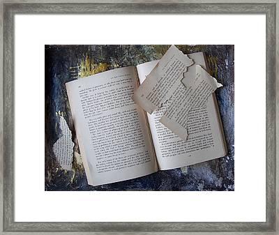 Book Framed Print by Mary Adam