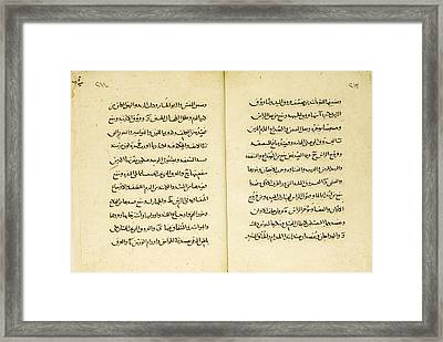 Book Of Canons Of Medicine Framed Print by Celestial Images