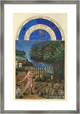 Book Of Hours: November Framed Print by Granger