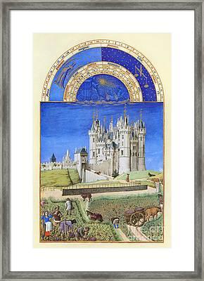 Book Of Hours: September Framed Print by Granger
